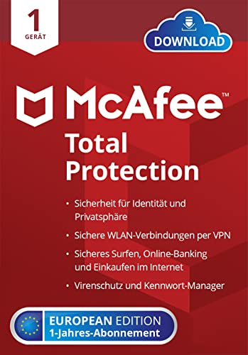 McAfee Total Protection 2021 | 1 Geräte | 1...