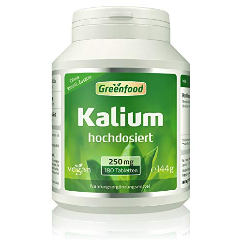 Greenfood Kalium, 250 mg, 120 Tabletten –...