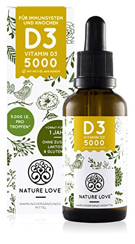 NATURE LOVE® Vitamin D3 5000 (50ml flüssig)...