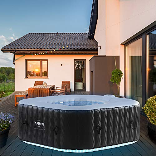 Arebos Whirlpool mit LED-Beleuchtung | 6...