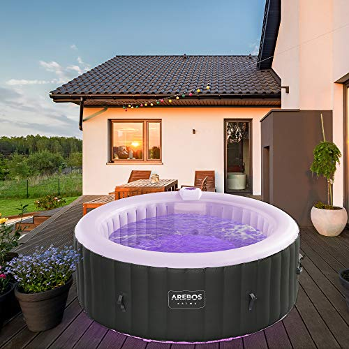 Arebos Whirlpool Palma mit LED-Beleuchtung |...