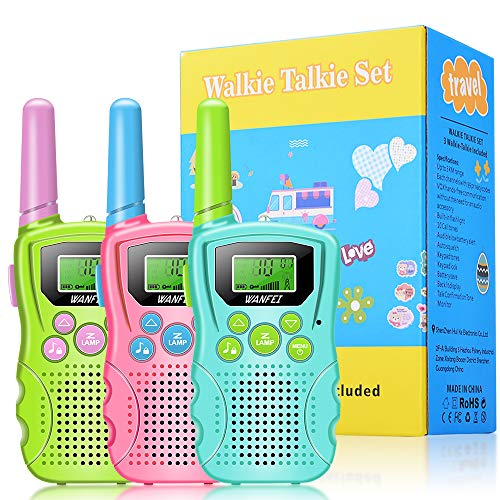 WANFEI Walkie Talkie Kinder 3er Set, VOX...