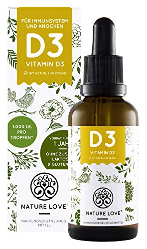 NATURE LOVE® Vitamin D3 1000 (50ml flüssig)...