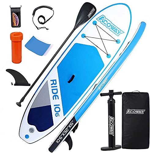 ACOWAY Aufblasbares Stand Up Paddle Board,...